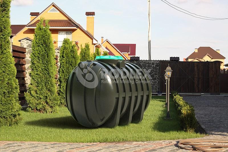 канализации 5000 л c горловиной 1000 мм и крышкой