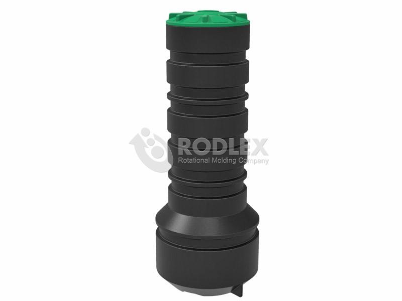 Цельнолитой пластиковый колодец высокой прочности 450 мм с крышкой для канализации
