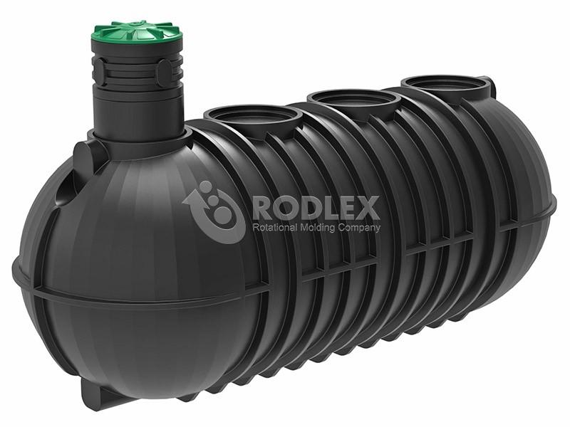 Накопительная емкость для подземной канализации 20м3 (20000л) с винтовой крышкой и горловиной 500мм