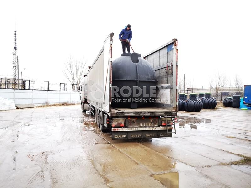 септика 30 м3 - 30000 литров с винтовой крышкой и горловиной 500мм