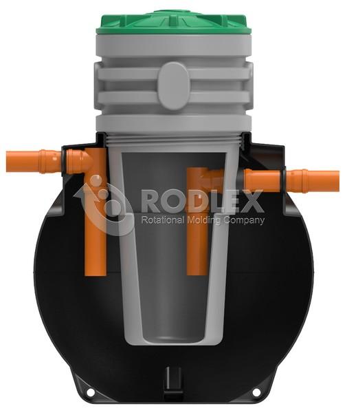 Септик двухкамерный TOR 1500-2 для 3 человек