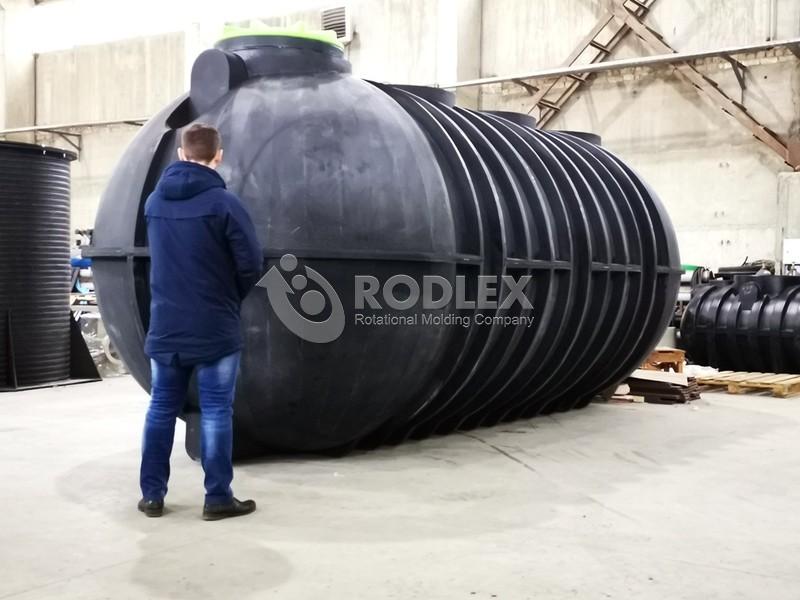 септика 25м3 - 25000 литров накопительная с винтовой крышкой и горловиной 500мм