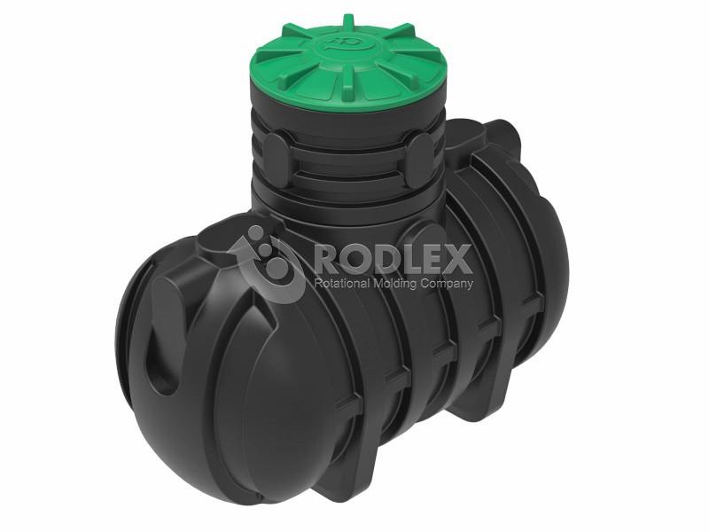 Купить прочную Емкость для канализации RODLEX-S2000 с горловиной 500 мм и крышкой